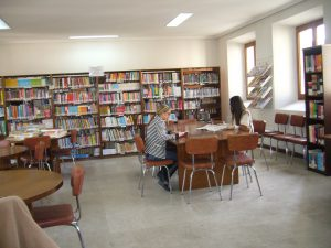 Vista del interior de la biblioteca pública